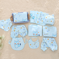 13 piece Newborn baby clothing boy girls bear suit clothes shirt pants Long sleeve outfits 0 3 months Printing