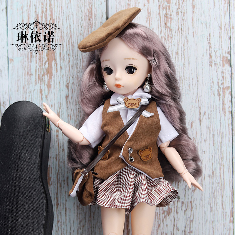 12 Inches Princess 30cm Joints BJD Suit Series Doll Toys for Girls Children Birthday Christmas Gifts 15