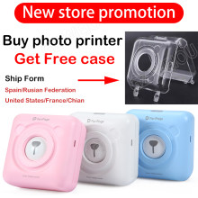 Mini Portable Bluetooth Wireless Kertas Foto Printer Saku Thermal Printing Koneksi USB(China)