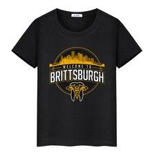 Tüm Elite güreş Britt Baker T-Shirt hoşgeldiniz Brittsburgh AEW moda t-shirt erkekler pamuk teeshirt
