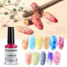 Hot Sale 40g Nail Polish Watercolor Ink Gel Marble Pattern Water Dyeing Liquid Nail Art Decoration TSLM2(China)