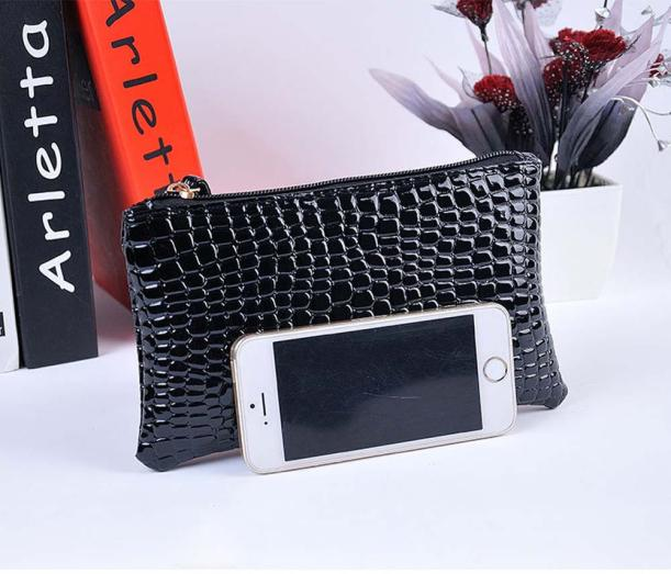 Hf68afc7a4c964ce4a7c58ff9c051e0322 - Women Coin Purse small wallet Crocodile Leather