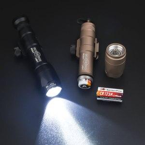 Image 4 - エアガンsurefir戦術M600 M600C armasスカウトライトトーチled 340lumes softair屋外狩猟ライフル武器懐中電灯