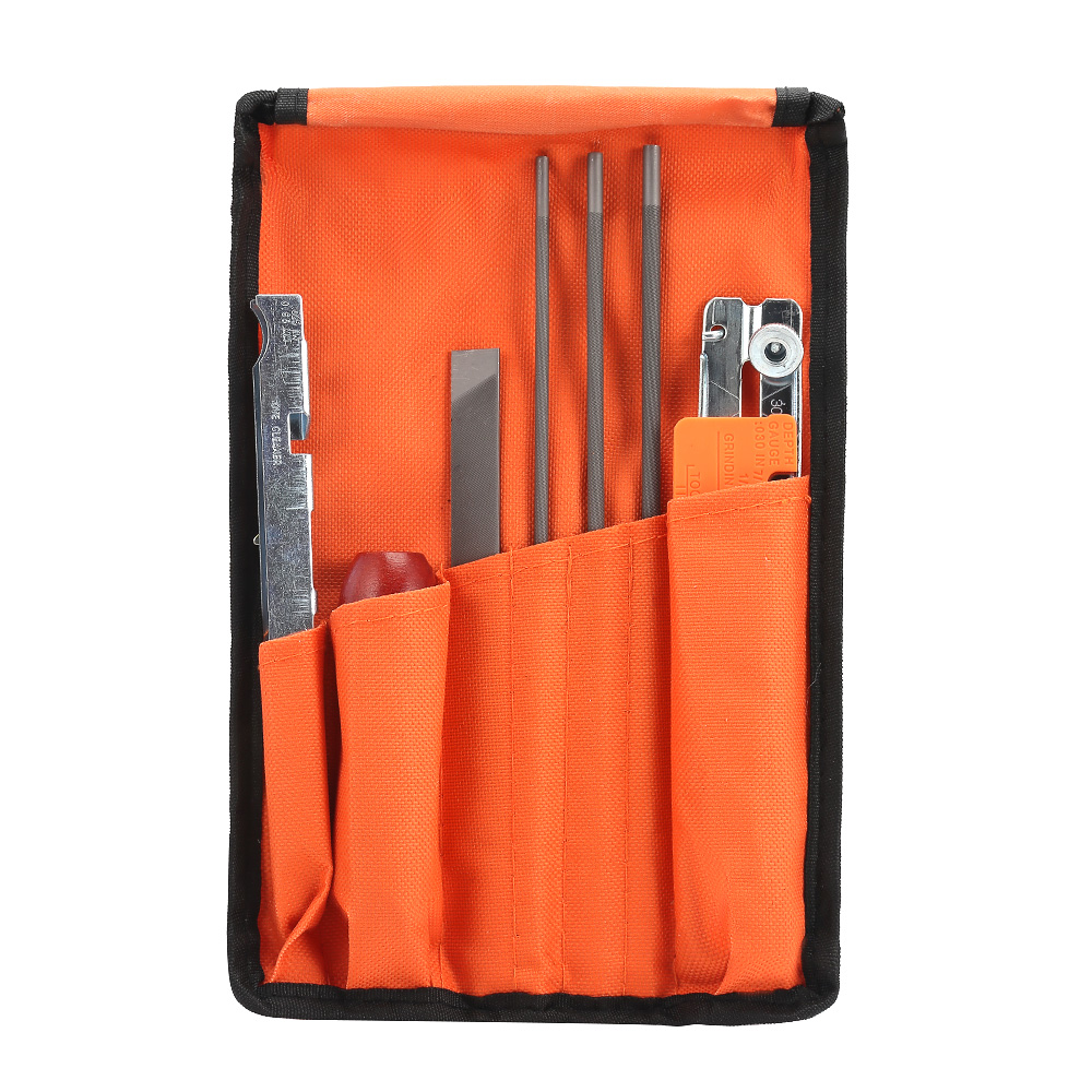 10Pcs/Set Chainsaw Chain Sharpening Kit Tool Set Guide Bar File Sharpener Tools Durable For Sharpen Your Chainsaw