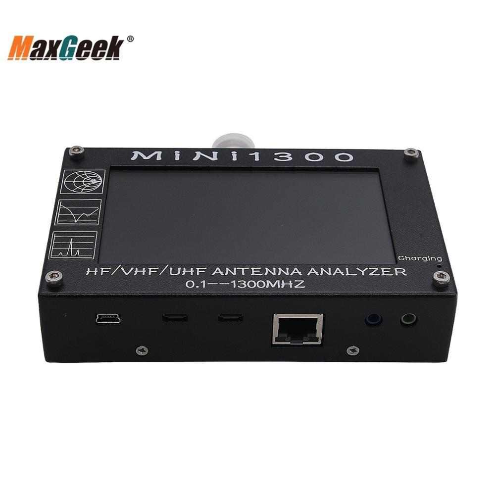 Maxgeek 4.3inch Mini1300 HF/VHF/UHF Antenna Analyzer 0.1-1300MHz With 4.3