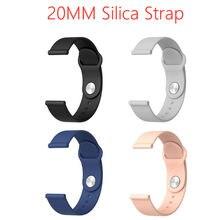Universal 20mm pulseira de silicone para p70 p80 relógio inteligente pulseira esportiva masculina