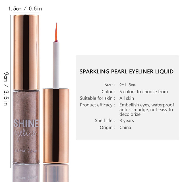 Matte Liquid Eyeliner Bright Color Waterproof Eye Liner Pencil Long-Lasting White Eye Liner Pen Eyes Makeup 4