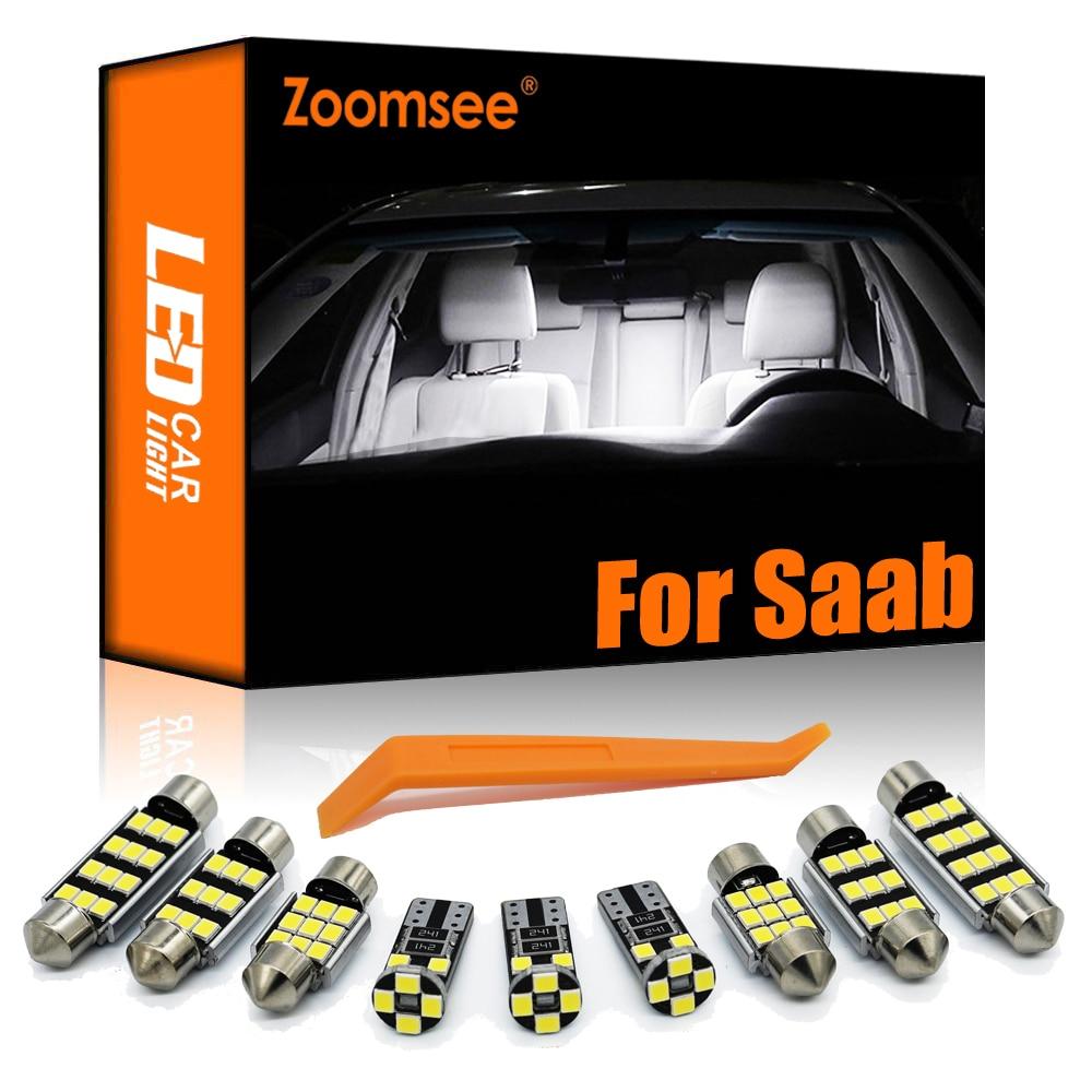 Zoomsee интерьер светодиодный для Saab 9-3 9-5 9-2X 9-7X 1999-2014 Canbus автомобиль лампы в маскирующем колпаке для внутренних помещений чтение карт светильни...