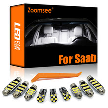 Zoomsee interior led para saab 9-3 9-5 9-2x 9-7x 1999-2014 canbus veículo lâmpada interior dome mapa leitura luz erro livre kit automóvel