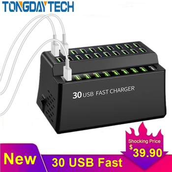 Tongdaytech 180W Multi 30 Port USB Fast Charger For Iphone X 8 11 Pro Quick Charge Carregador Portatil For Samsung S10 S9 Xiaomi