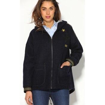 Abrigo marinero con capucha para mujer, 009126