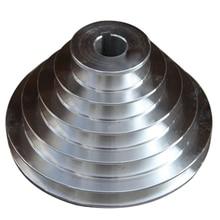 25mm Bore Aluminum Pagoda Wheel A Type 5 Step Pagoda Pulley Wheel for V-Belt Timing Belt цена 2017