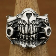 MAD MAX Immortan Joe Ring 925 Sterling Silver Mens Biker Punk Skull Style  US Size 8 to 10 925 sterling silver king kong ring mens biker punk ape king ring us size 7 5 10