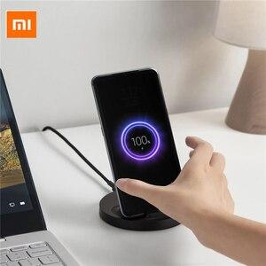 Image 1 - Xiaomi dikey kablosuz şarj 20W Max flaş şarj Qi uyumlu çoklu güvenli standı yatay Mi 9 (20W) MIX 2S