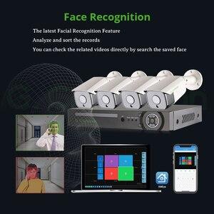 XMeye 5MP распознавание лица POE IP камера система безопасности наборы 4CH SONY 335 аудио водонепроницаемый CCTV видео наблюдение AI Onvif NVR