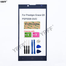 Mobile Front Panel Glass For Prestigio Grace Q5 PSP5506 DUO Front Glass (No touch Screen) Outer Glass Cover Panel Replacement(China)