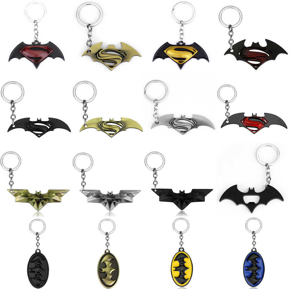 29 Styles Superhero Batman Key chain bottle opener Bat Keychains Hot Fashion women Men Key holder key rings Accessories Jewelry