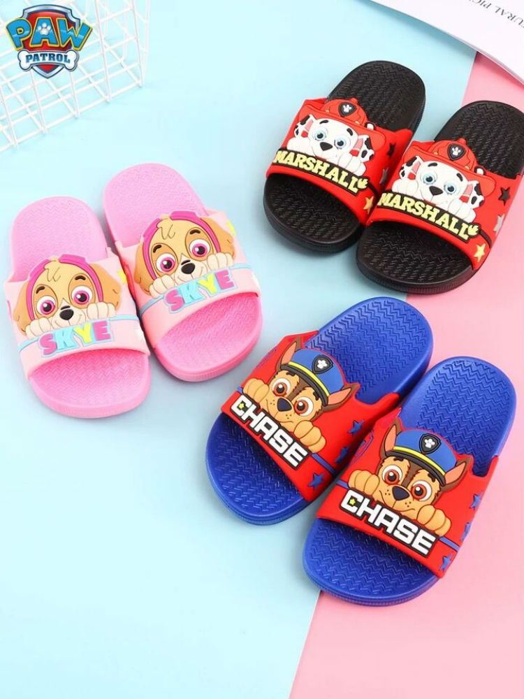 1pairs 2020 New Genuine Paw Patrol Puppy Patrol KIDS SUMMER SLIPPER Shoes Patrulla Canina Toy Children Toy Doll High Quality
