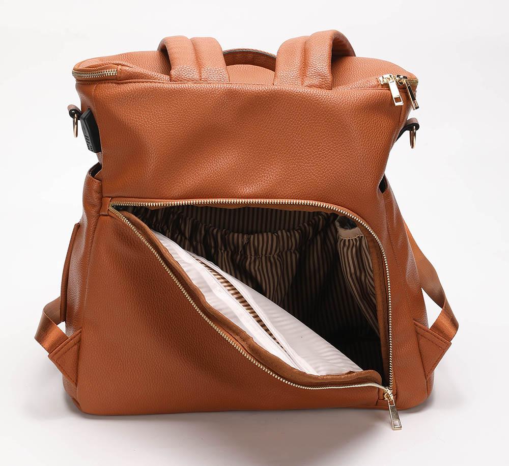 Lisa PU Leather Mummy Bag