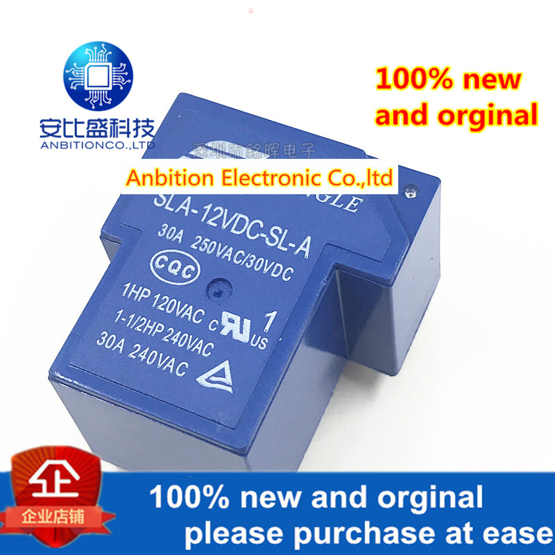 10pcs 100% New And Orgianl SLA-12VDC-SL-A 12V 12VDC DC12V 30A 5Foot T90 A Group Of Frequently Switched Relays In Stock