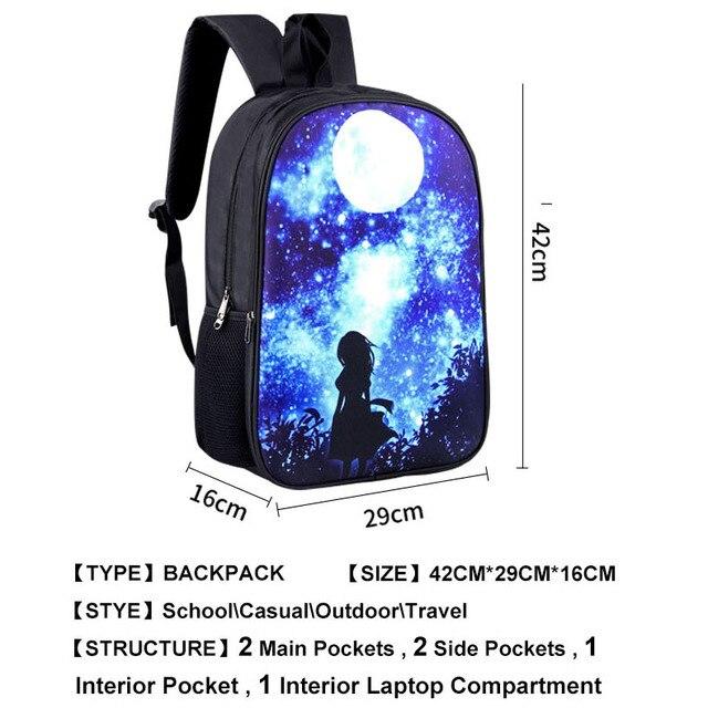 Kawaii Sugoi Senpai Anime Waifu Print School Bags for Teenager School Backpack Women Men Rucksack Boys Girls Book Bag