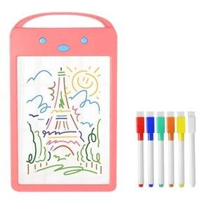 8,5 дюймов ЖК-планшет для письма Цифровой Планшет для рисования детская Люминесцентная доска Детский подарок доска для рисования с игрушкам...
