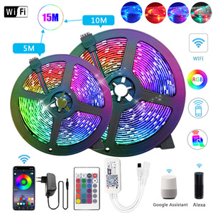 20M RGB WiFi LED Strip Light 5M 10M 15M 5050 SMD 2835 Flexible Ribbon luces led light strip tira fita decoration WiFi Controller