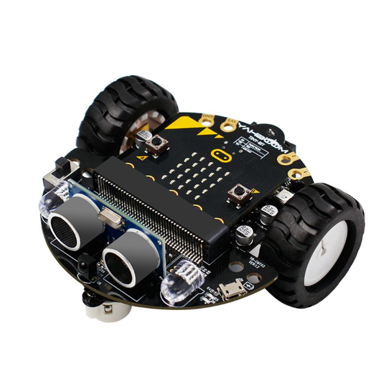 1Set Micro:bit Graphical Programming Robot Mobile Platform Smart Car V4.0 Support Line Patrol Ambient Light Accessories