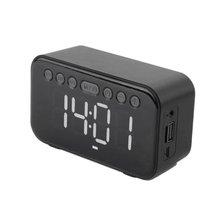 Bluetooth 50 беспроводной динамик будильник цифровой светодиодный