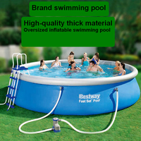 Large inflatable swimming pool High quality thick material swimming pool adult and children swimming supplies
