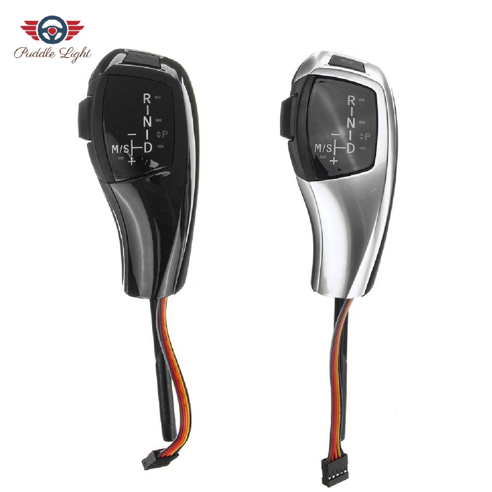 Pommeau de levier de vitesse LED automatique pour BMW E90 E91 E93 E81 E82 E84 E87 E88 E89 LHD cuir plastique 4 Styles