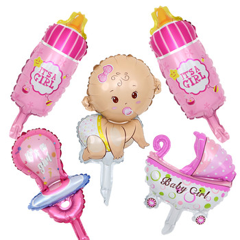 Mini Angel Baby Girls Balloon Shower Stroller Foil Ballon Toys Balao For Newborn Party Decoration