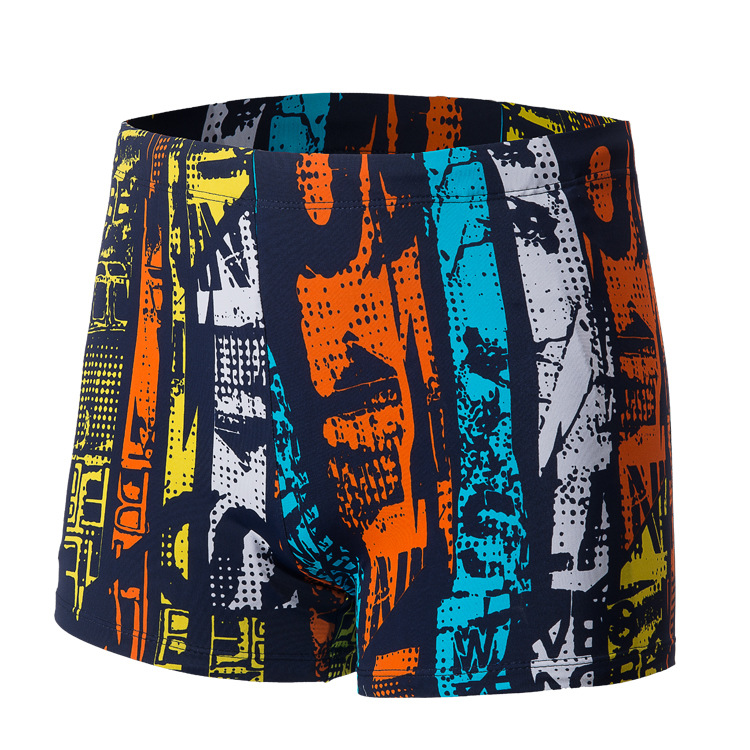 LANGSHA Swimming Trunks Men Seaside Beach Style Multi-color Loose-Fit-Style Holiday Hot Springs Low Waist Boxer Shorts