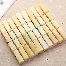 20 шт. ветрозащитная прочная сушка для хранения белья Домашняя одежда висячая практичная многофункциональная бамбуковая клипса