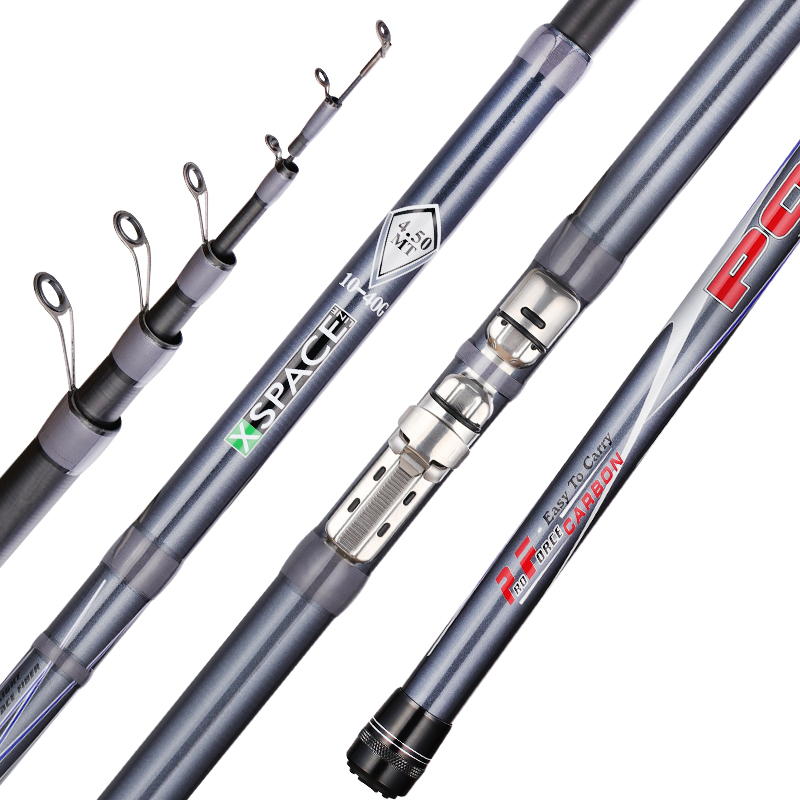 FX 99 Carbon Fiber Telescopic Spinning Fishing Rod Short Sea Rods Travel Grey Fishing Bolo Rod in Fishing Rods from Sports Entertainment