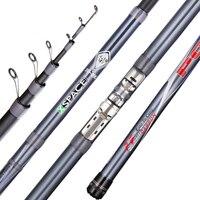 FX 99% Carbon Fiber Telescopic Fishing Rod fishing fish spinning rod 90cm Short Sea Rods Travel Grey Fishing 3.8m 6.0m