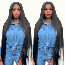 30 Inch HD Transparent 13x4 Lace Front Wigs 180 Density Straight Human Hair Wigs Natural Hairline Brazilian Human Hair Lace Wigs