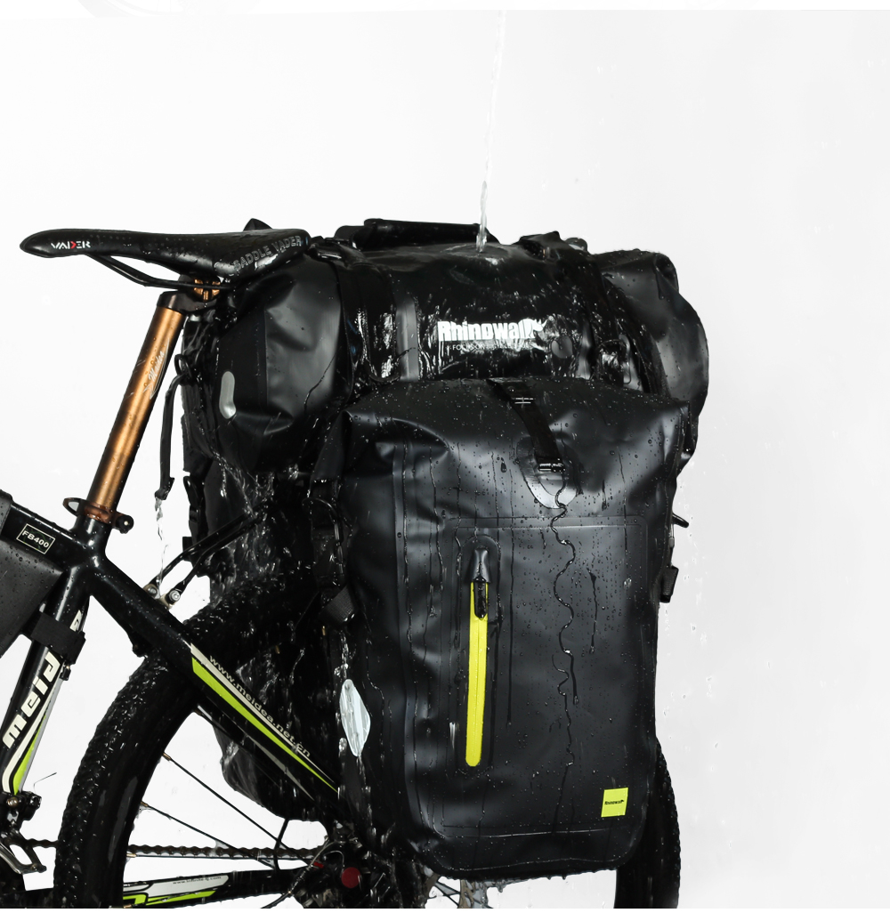 Rhinowalk Bicycle Luggage Bags 20L Full Waterproof for Road Bike Rear Rack Trunk Cycling Saddle Storage Pannier Multi Travel Bag (13)
