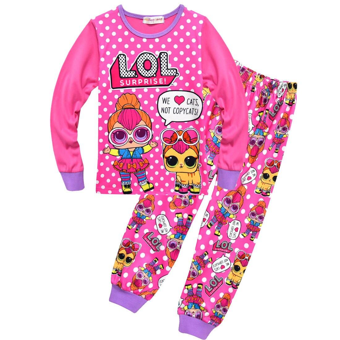 LoL suprise Original Children's Sets toddler Pajamas Kids Tracksuit lol dolls Pajama Toddler Girl Clothes Girls Clothing