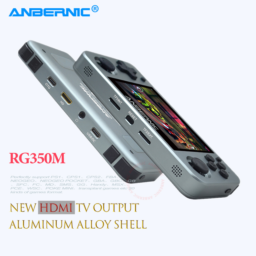ANBERNIC Retro Game Player RG350M RG350 3.5 IPS 64Bit 32G TF 2500 Games RG 350 HDMI TV Output PS1 Portable Handheld Game Console 1