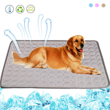 Summer Cooling Pet Mats Blanket Ice Dog Bed Sofa Mats For Dogs Cats Sofa Portable Tour