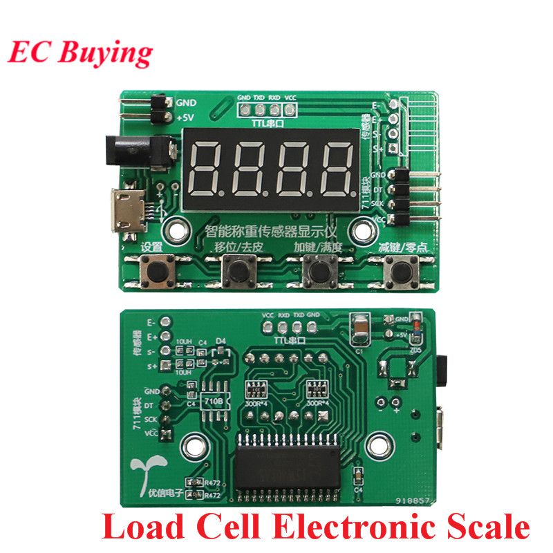 Load Cell HX711 AD Module Weight Sensor Digital Display Electronic Scale Weighing Pressure Sensors 1KG 5KG 10KG 20KG Instrument