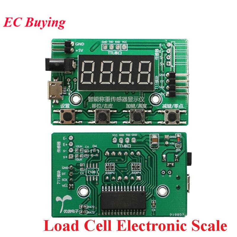 Load Cell HX711 AD Module Weight Sensor Digital Display Electronic Scale Weighing Pressure Sensors 1KG 5KG 10KG 20KG Instrument