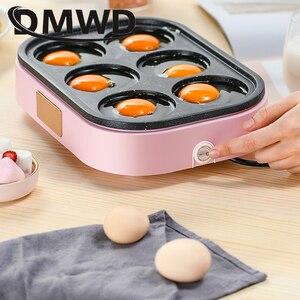 Image 4 - DMWD Điện Trứng Rang Hamburger Máy Đậu Đỏ Bánh Máy Làm Bánh Crepe MINI Bánh Pancake Nướng Chiên Trứng Trứng Tráng Chảo Chiên EU