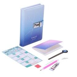PU kreatywny śliczny blokada hasła notatnik osobisty dzienniczek podróżny