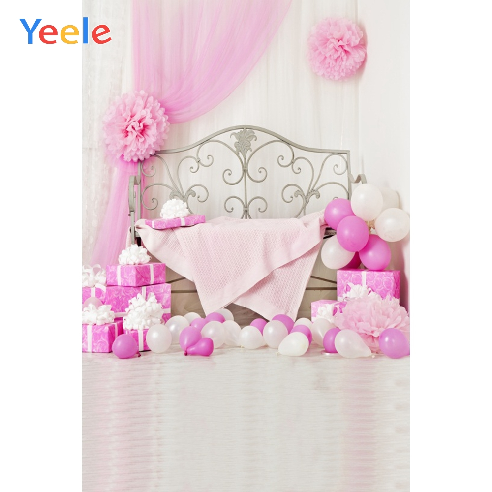 Yeele Baby Shower Party Photozone Balloons Gifts Photography Backdrops Personalized Photographic Backgrounds For Photo Studio