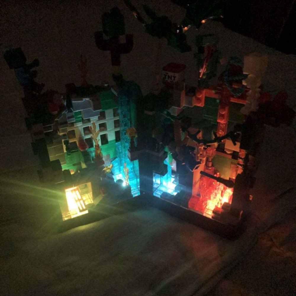 Отзывы о 2020 новые строительные блоки Набор шахты ремесло зомби светильник мой мир ад джунгли Стива Кирпичи игрушки для детей