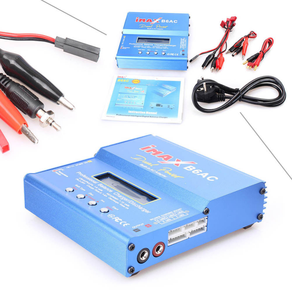 IMAX B6 AC B6AC 80W 6A Dual RC Balance Battery  Lipo Charger  Lipo Nimh Nicd Battery With Digital LCD Screen