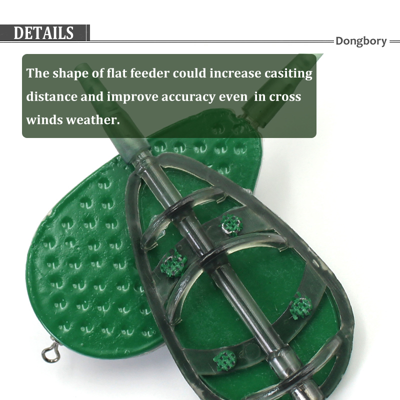 Inline Method Flat Feeder Quick Release Mould Carp Fishing Bait Holder Carp Fishing Feeder with Quick Release 25g 1 Pc