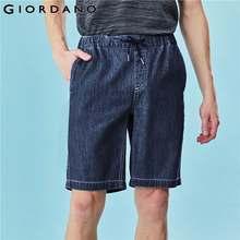 Pantalones Cortos para Hombre Giordano, cintura elástica, fino corto, vaqueros para Hombre, Pantalones Cortos informales con varios bolsillos, Pantalones Cortos para Hombre 01100342